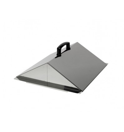 LS200 Stainless steel sloping lid